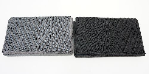 2PC BEADED EVENING BAGS