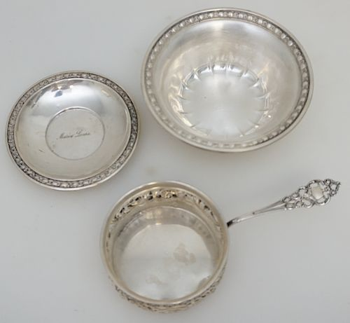 3 STERLING SILVER BOWL / DISH