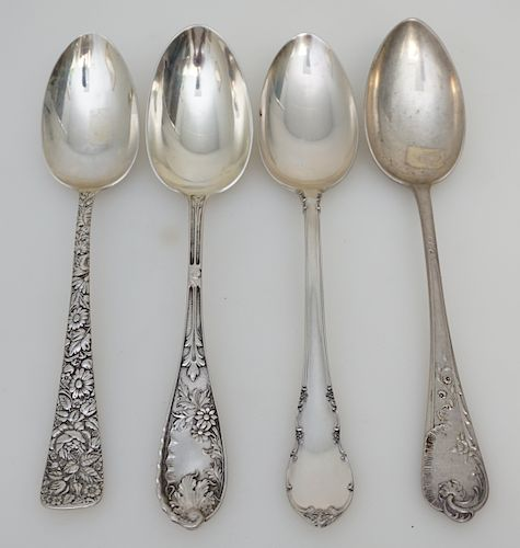 3 STERLING 1 COIN TABLESPOONS