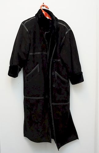 YVES ST LAURENT SHEARLING COAT