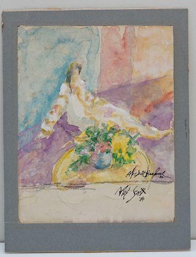 ALICE SCOTT (1925-2005) WATERCOLOR