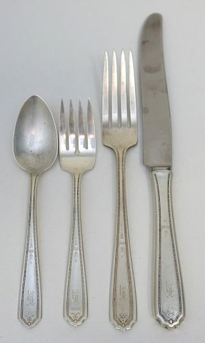 FOUR (4) 4PC STERLING PLACE SETTINGS