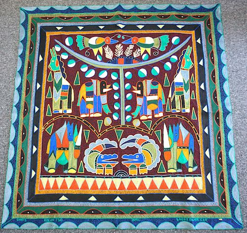 SOUTH AFRICAN HAND EMBROIDERED CLOTH