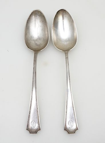 2 STERLING FAIRFAX TABLESPOONS