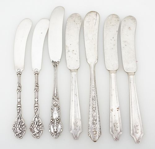 7 ANTIQUE STERLING BUTTER TIFFANY +