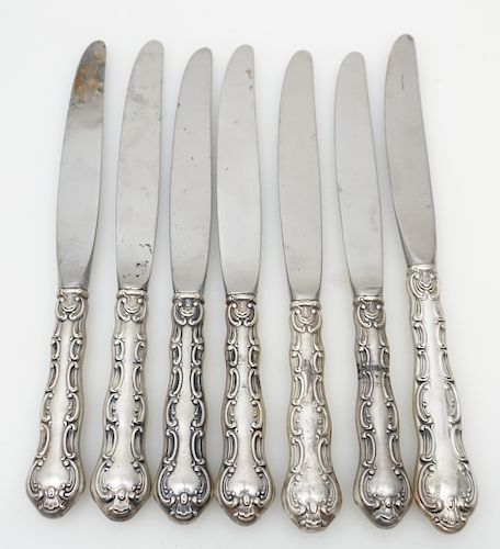 11 STERLING HANDLE LUNCHEON KNIVES