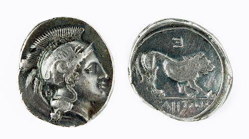 Velia in Lucania Silver AR Didrachm, 7.66 grams