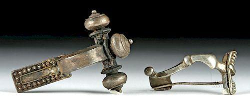 Lot of 2 Roman Silver Military Fibulae - 31.1 grams