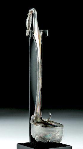 Roman Silver Duck Ladle (Simpulum) - 90 g