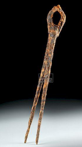 7th C. Anglo-Saxon Iron Pliers for Blacksmithing