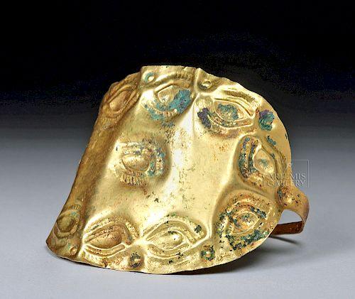 Impressive Classical Scythian 18K Gold Bracelet, 18.8 g