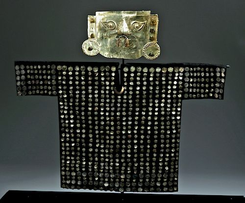 Incredible Sican 14K Gold Mask + Tunic Appliques
