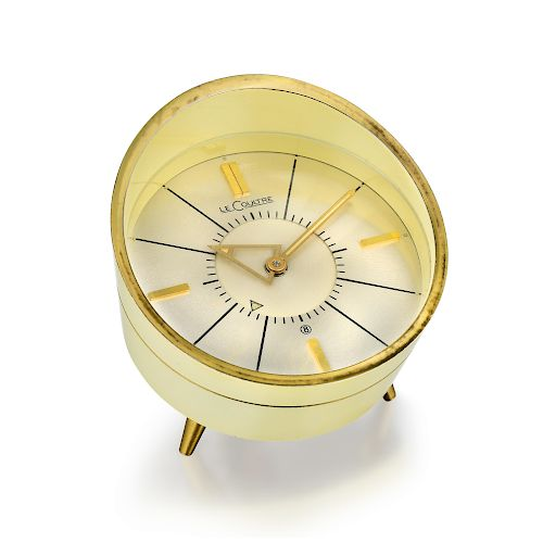 c0aabbef082 Jaeger-LeCoultre Memovox Alarm Tripod Desk Clock in Steel by Fortuna ...