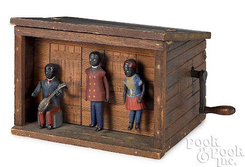 Black Americana hand-crank musical dancers
