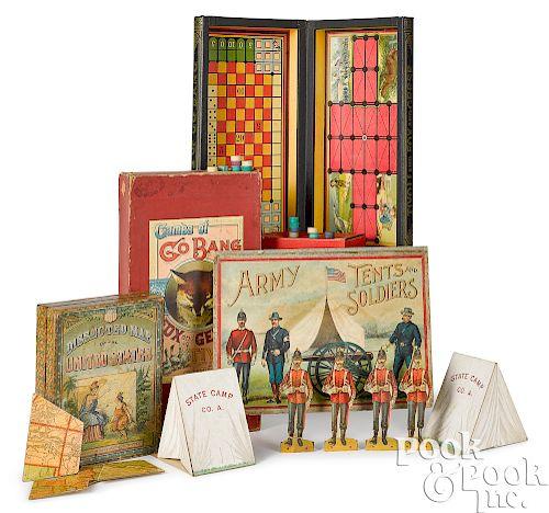 Three McLoughlin Bros. board games