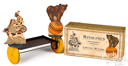 Performing Animals on Circus Wagon pull toy