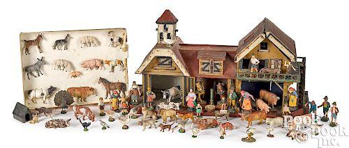 German painted wood stable