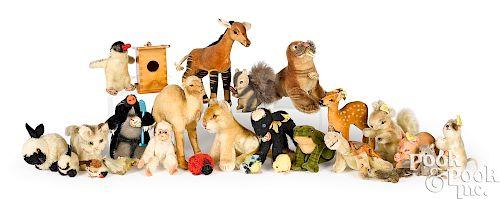Steiff mohair animals with tags
