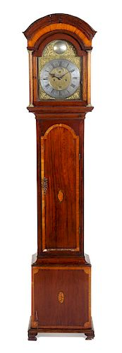 * A George III Mahogany Tall Case Clock Height 95 inches.
