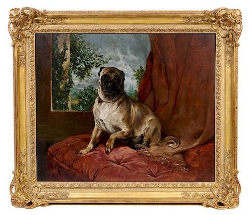 John Charlton, (British, 1849-1917), Kitty, the Favorite Dog of the Artist's Wife, 1890