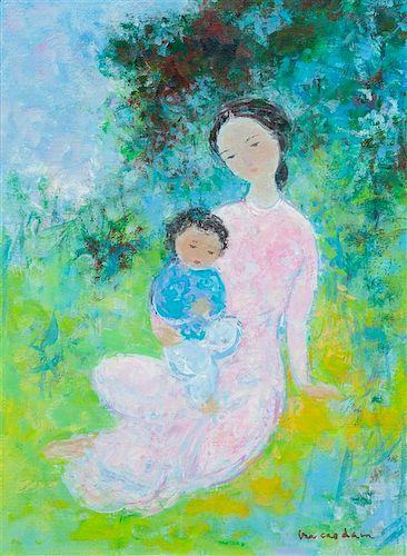 * Vu Cao Dàm, (Vietnamese, 1908-2000), Maternité