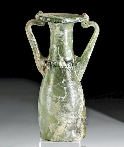 Roman Glass Twin-Handled Sprinkler Flask