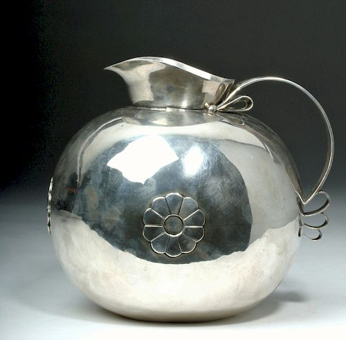 1940s Spratling Mexican Sterling Silver Water Pitcher