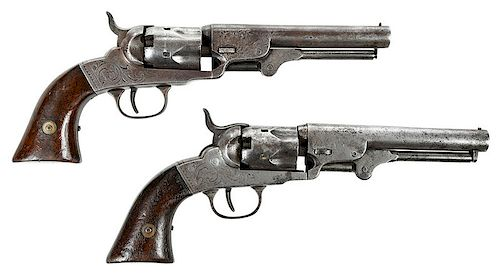 Two Bacon Arms Pocket Revolvers Civil War Era by Brunk