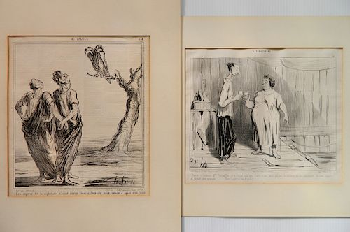 Honore Daumier 2 lithographs