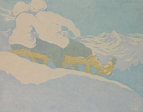 Hans Neumann woodcut