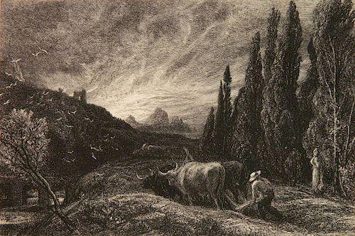 Samuel Palmer etching