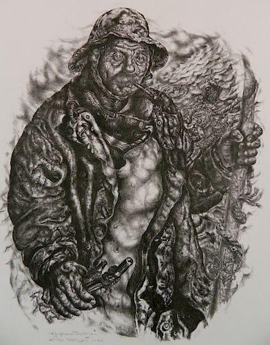 Ivan Albright lithograph
