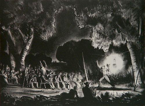 Peter Hurd lithograph