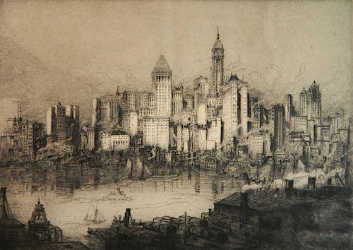 William Monk etching
