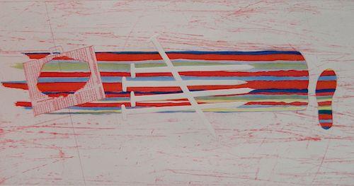 James Rosenquist etching and aquatint