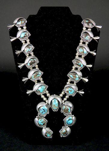 Richard Begay squash blossom necklace