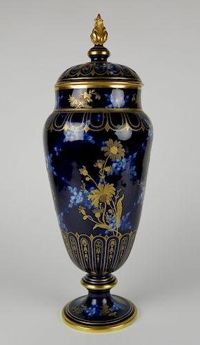 Pirkenhammer porcelain covered urn