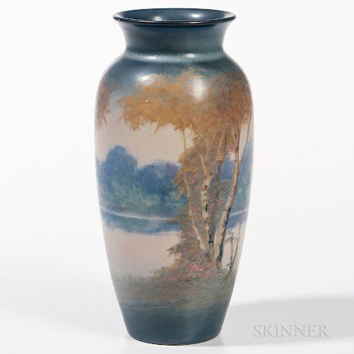 Edward T. Hurley Scenic Rookwood Vase