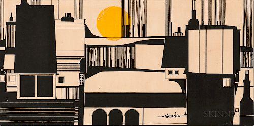 Bob Van Allen/Scuda (American, 20th Century)  Skyline.