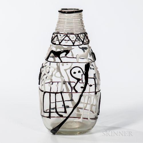 "Fulvio Bianconi (1915-1996) ""Teatrino"" Vase for Cenedese"