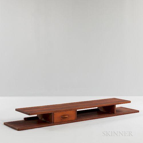 Scandinavian Modern Teak Floating Shelf