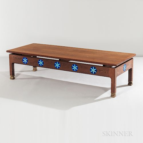 Kofod Larsen Megiddo Collection Oak Coffee Table with Tile Inserts