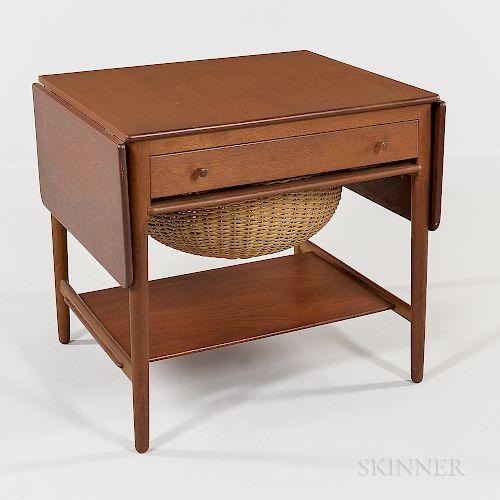 Hans Wegner for Andreas Tuck Teak Sewing Table