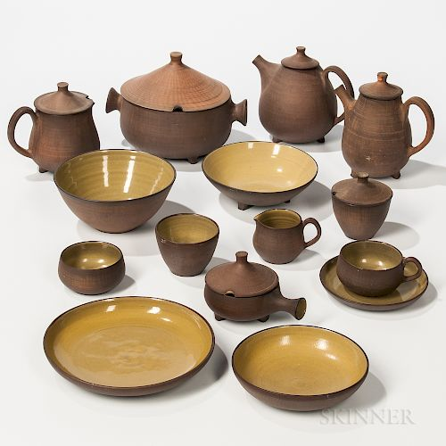 Fifty-five-piece Flamestone Ceramic Dinner Service