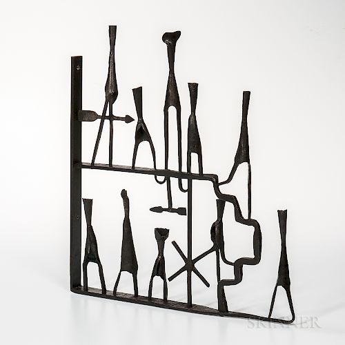Paul Aschenbach (b. 1921) Subway Entrance   Sculpture