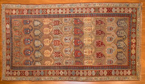 Antique camel hair Serab rug, approx. 3.6 x 6.2