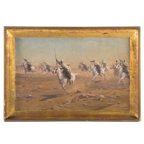 Czeslaw Wasilewski. Nine Berbers, oil