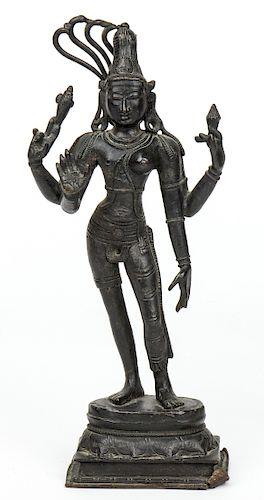 Shiva Parvati Bronze Statue, Vijayanagar Period, 16th-17th C.