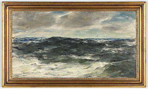"John Fulton Folinsbee (1892-1972) ""Maine Coastal Scene"""