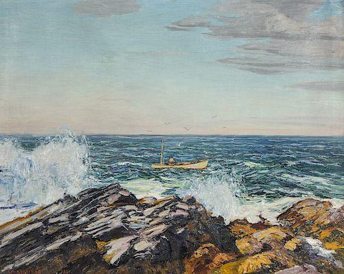 """Edward Willis Redfield (1869-1965) """"The Lobsterman"""", 1937"""